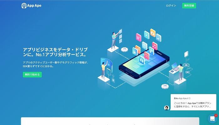 競合調査サービスApp Apeの紹介。